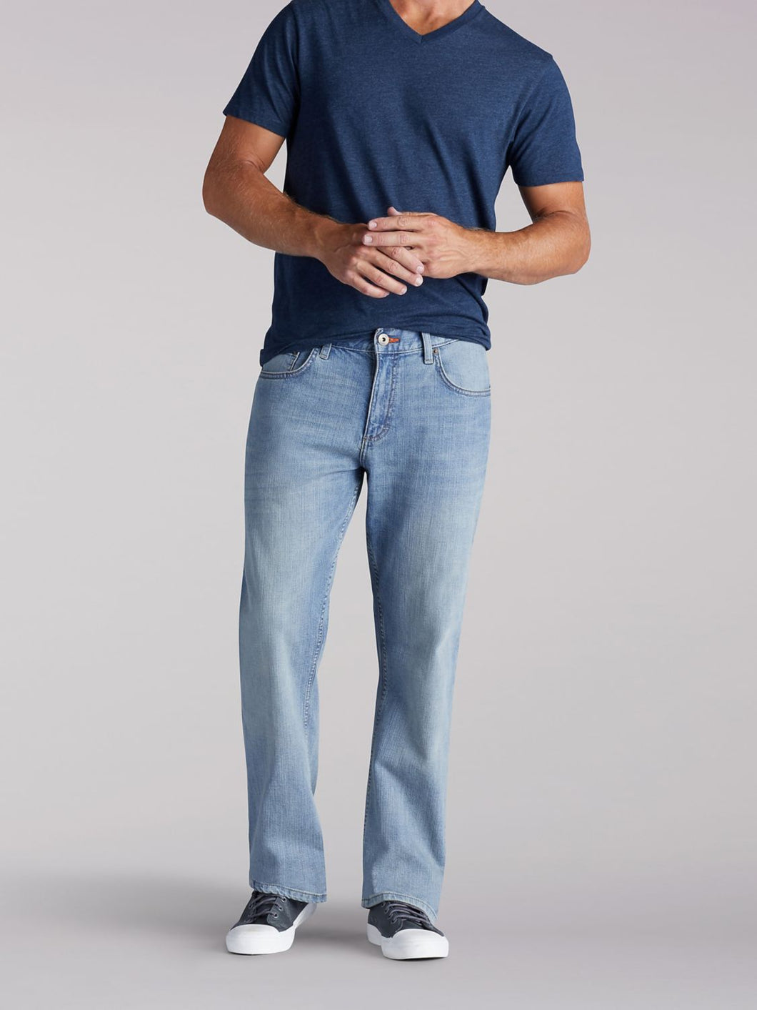 Modern Series Relaxed Bootcut Jean in Leo from Front View