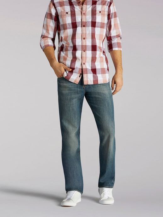 Modern Series Straight Leg Jean in Captain from Front View