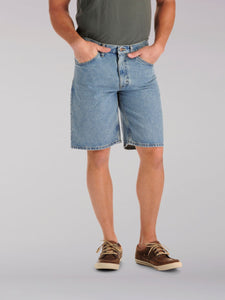 Regular Fit Denim Short in Light Stone from Front View