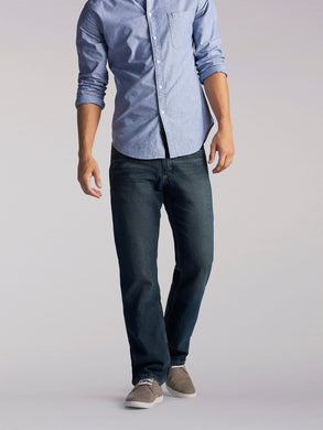 Regular Fit Straight Leg Heavyweight Jean in Quartz Stonewash from Front View