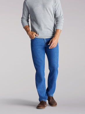 Regular Fit Straight Leg Jean in Pepper Wash from Front View