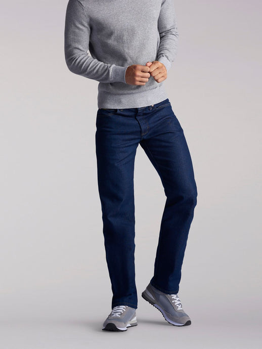 Regular Fit Straight Leg Midweight Jean in Indigo from Front View