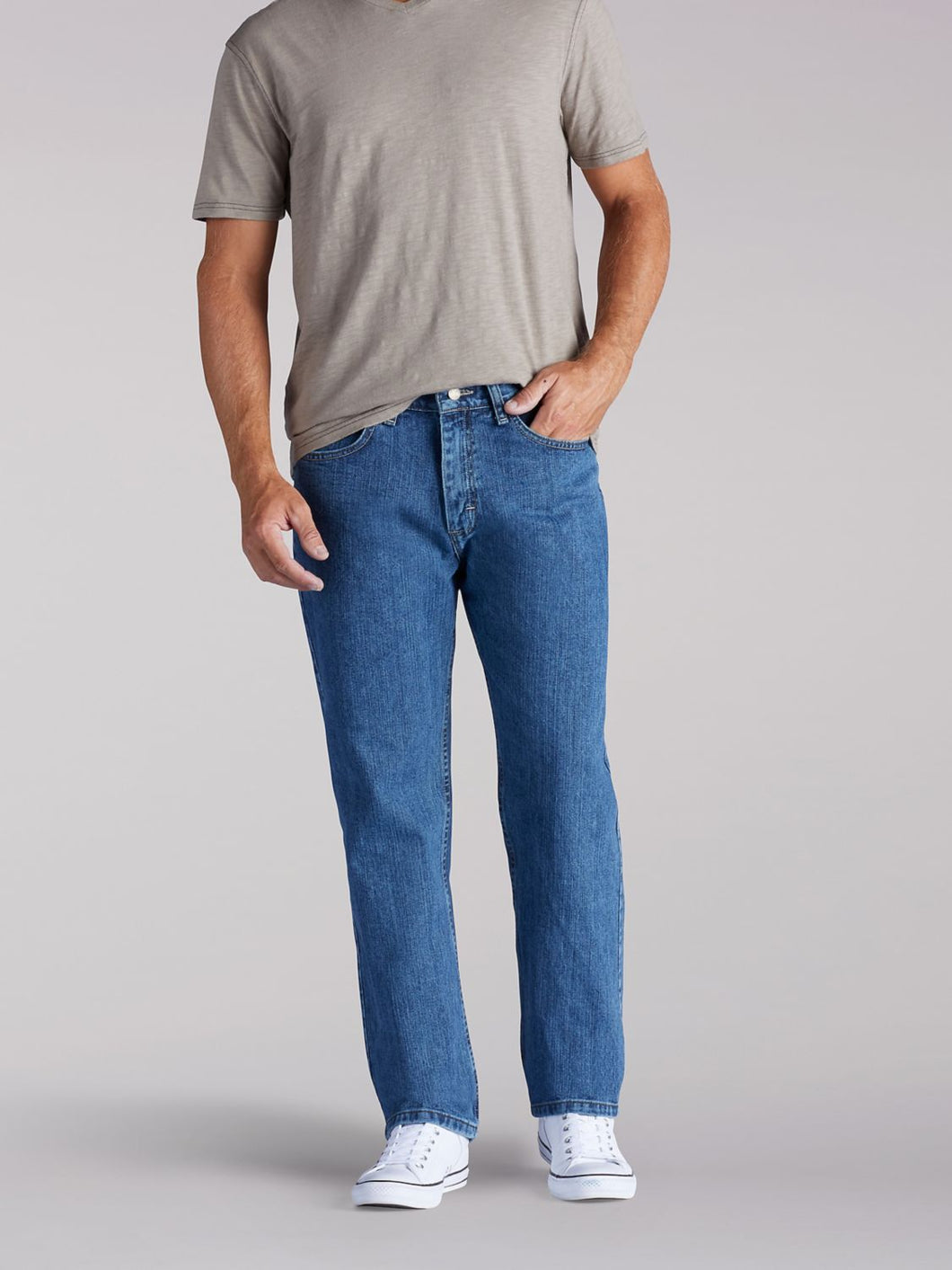 Relaxed Fit Straight Leg Jean in Newman from Front View