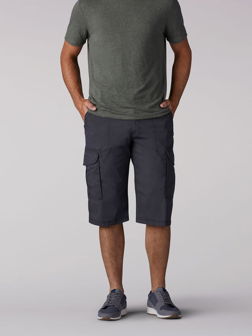 SUR Belted Cargo Short in Anthracite from Front View