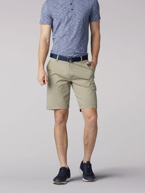 Walker Flat Front Short in British Khaki from Front View