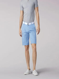 Walker Flat Front Short in Light Blue from Front View