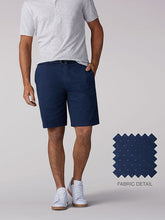 Load image into Gallery viewer, Walker Flat Front Short in Navy Dash from Front View