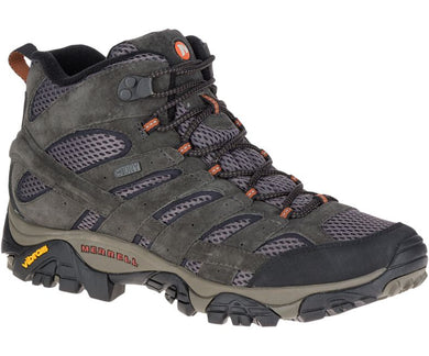 Merrell Men's Moab 2 Mid Waterproof Hiking Boot in Beluga from the side