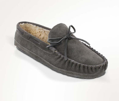 Casey Slipper in Charcoal from 3/4 Angle View