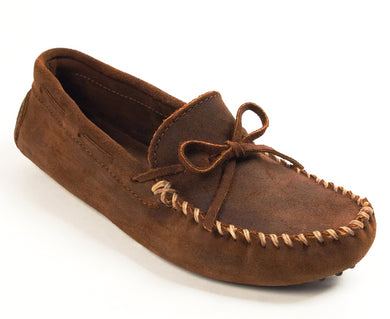 Classic Driver Moccasin in Brown Ruff from 3/4 Angle View