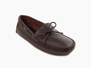 Double Bottom Driver Moccasin in Brown from 3/4 Angle View