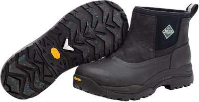 Men's Muck Boot Arctic Grip Outpost Pull On Ankle Boot in Black