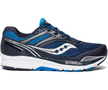 Load image into Gallery viewer, Saucony Men's Echelon 7 Running Shoe in Navy/Blue from the side