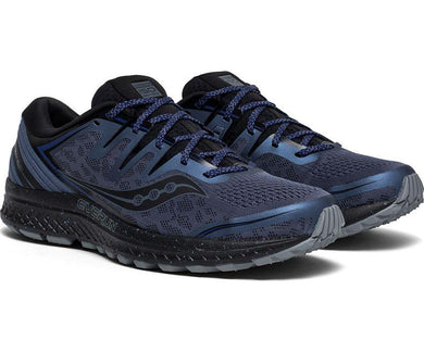 Saucony Men's Guide ISO 2 TR Running Shoe in Slate/Blue from the side