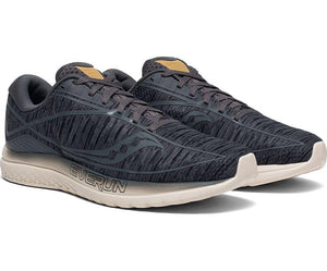 Saucony Men's Kinvara 10 Running Shoe in Gunmetal Shade from the side