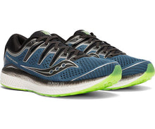 Load image into Gallery viewer, Saucony Men's Triumph ISO 5 Running Shoe in Steel/Black from the side