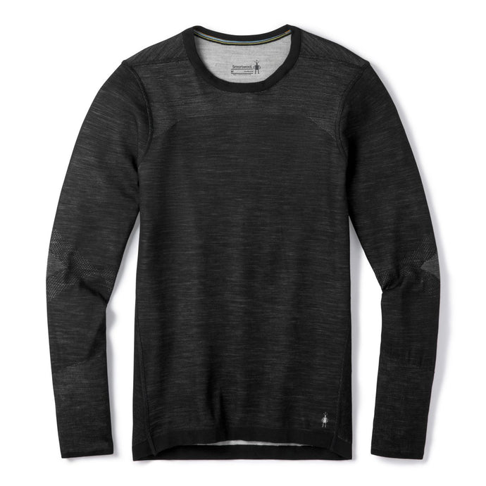 Intraknit Merino 200 Crewneck Shirt in Black-White from the front view
