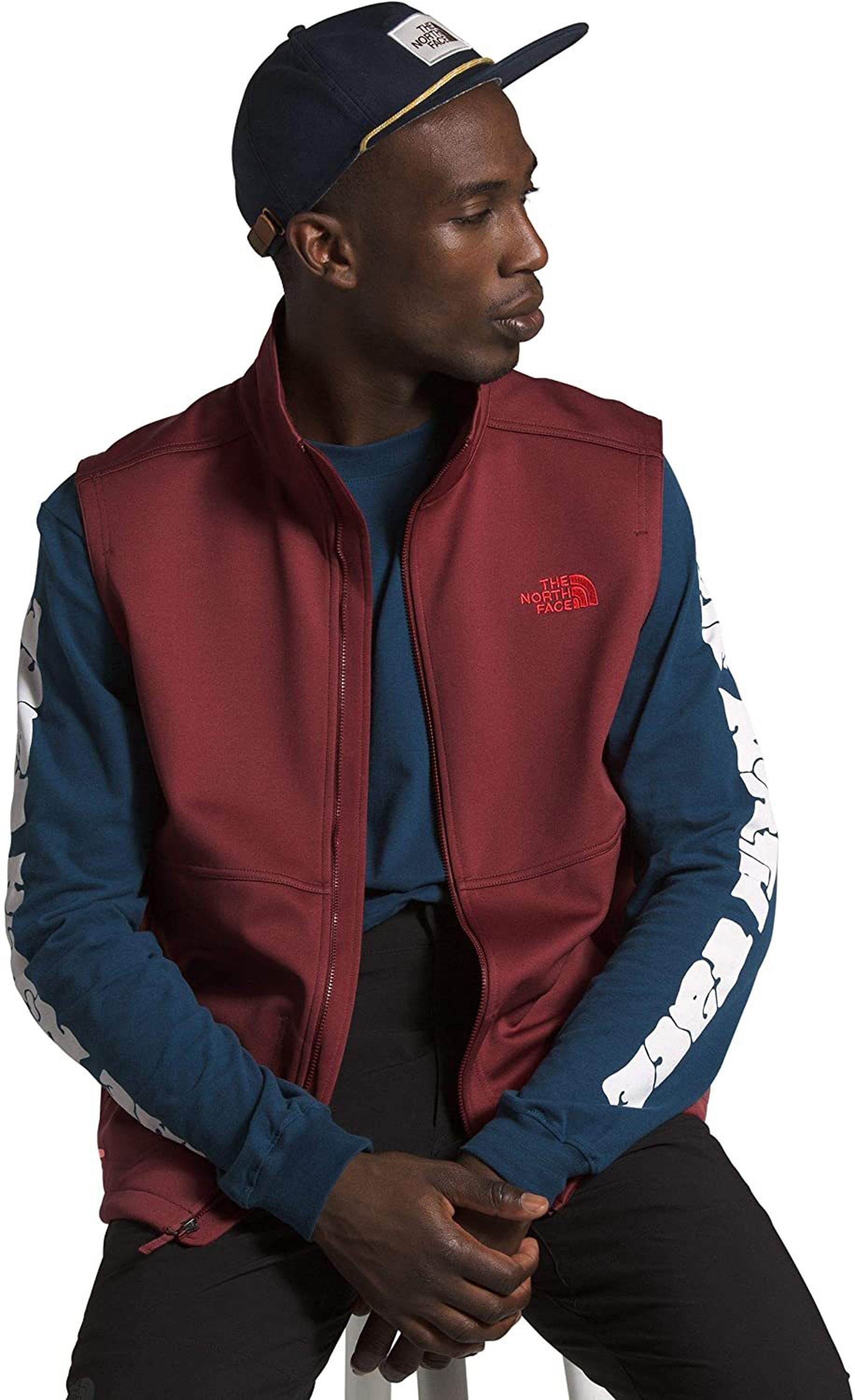 Men's The North Face Apex Canyonwall Vest in Barolo Red
