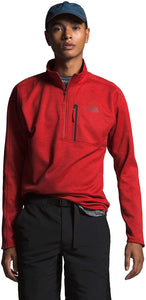Men's The North Face Canyonlands One Half Zip  in Pompeian Red Heather