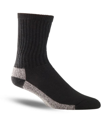 Thorogood Men's 3-Pack Crew Uniform Sock in Black from the side