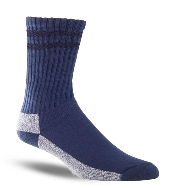 Thorogood Men's 3-Pack Crew Uniform Sock in Navy from the side