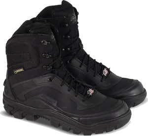 "Thorogood 804-6016 Men's Veracity GTX 7"" Waterproof Safety Toe Uniform Boot in Black from the side"