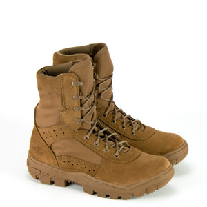 "Thorogood 813-8800 Men's 8"" War Fighter Military Water Resistant Non-Safety Toe Boot in Coyote from the side"