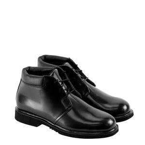 Thorogood 834-6032 Men's Uniform Classic Leather Chukka Non-Safety Toe Uniform Shoe in Black from the side