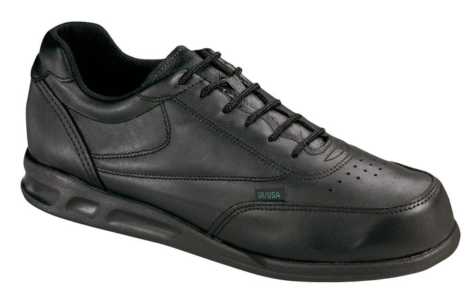 Thorogood 834-6501 Men's Athletic Postal Oxford Uniform Shoe in Black from the side