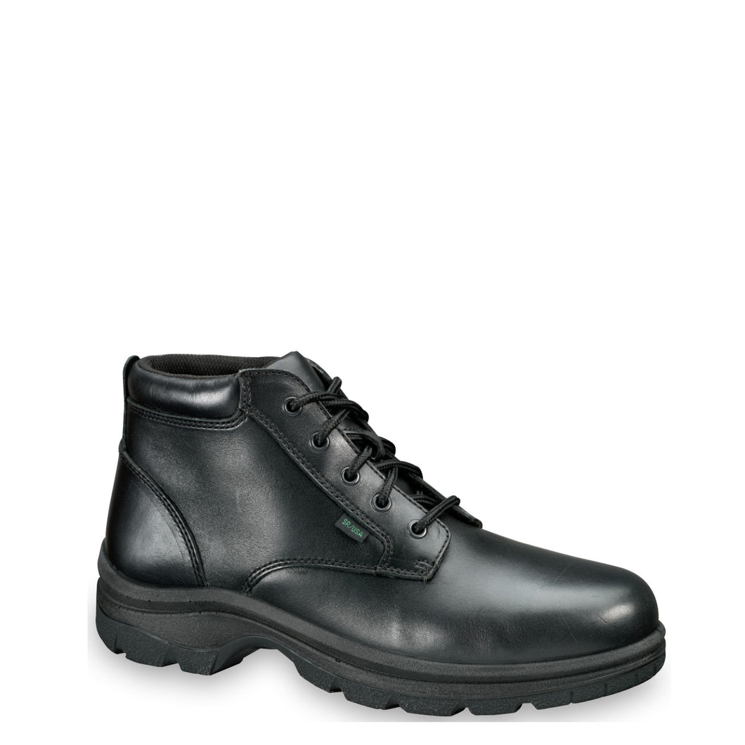 Thorogood 834-6906 Men's Soft Streets™ Series Plain Toe Chukka Uniform Shoe in Black from the side