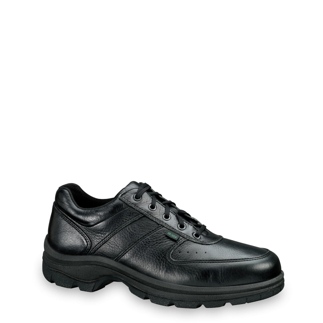 Thorogood 834-6907 Men's Soft Streets™ Series Moc Toe Oxford Uniform Shoe in Black from the side