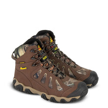 "Load image into Gallery viewer, Thorogood Men's Crosstrex Series 6"" 400g Insulated Waterproof Hiking Boot in Brown/ Mossy Oat® from the side"