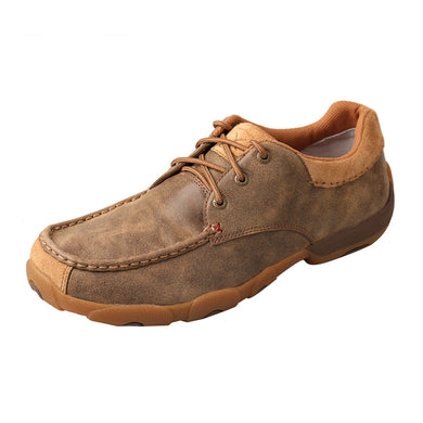 Men's Twisted X Boat Shoe Low-Cut Driving Moccasins in Bomber from the side view