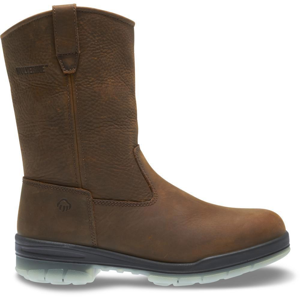 Men's Wolverine Durashocks Insulated Waterproof 10 Wellington Work Boot in Stone
