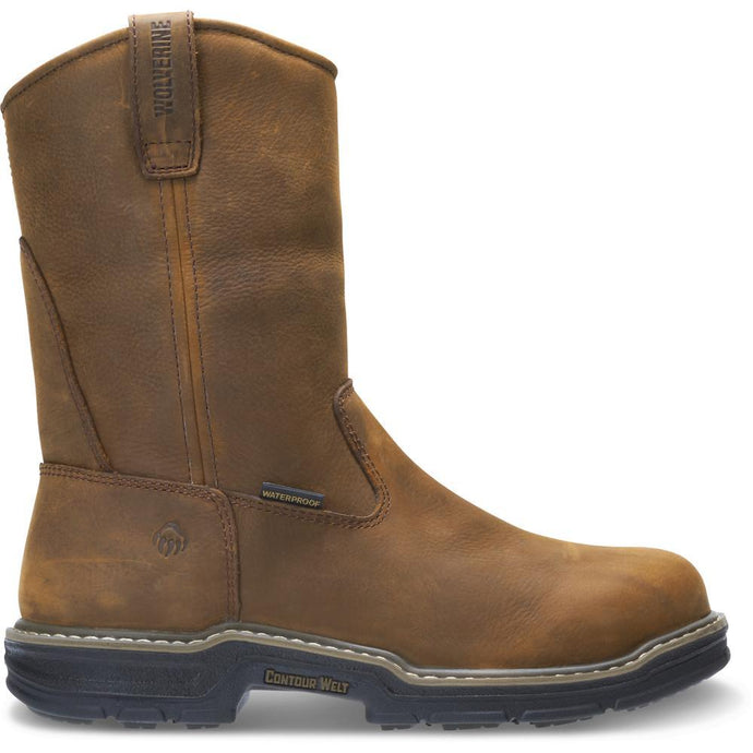 Men's Wolverine Marauder Insulated Steel-Toe Wellington in Brown