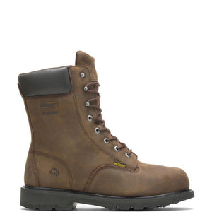 Men's Wolverine Mckay Waterproof Steel-Toe 8 Work Boot in Brown