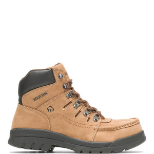 Men's Wolverine Potomac English Moc Steel-Toe 6 Work Boot in Brown