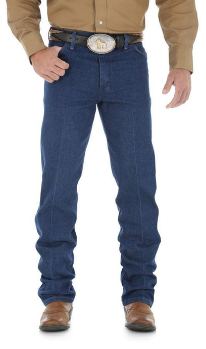 Men's Wrangler Cowboy Cut Jean Original Fit in Prewashed Indigo from the front