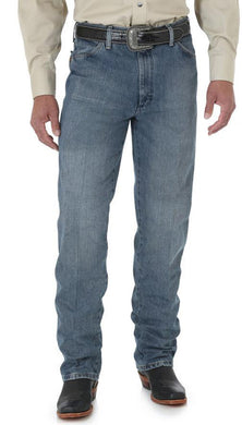 Men's Wrangler Cowboy Cut Jean Slim Fit in Rough Stone from the front