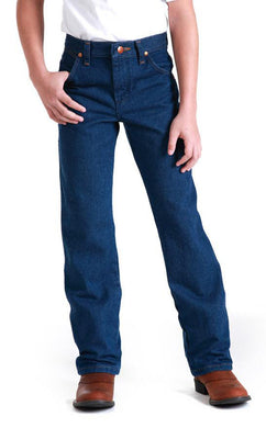 Men's Wrangler Cowboy Cut Jean Students in Prewashed Indigo from the front