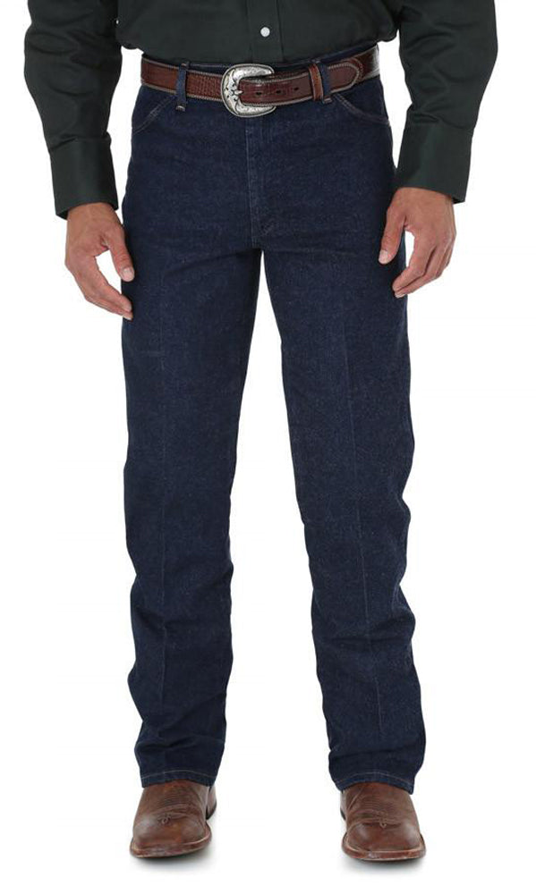 Men's Wrangler Cowboy Cut Stretch Jean Regular Fit in Navy from the front