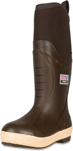 "Men's Xtratuf Elite 15"" Insulated Fishing Boot in Copper Tan from the front"