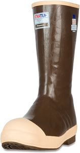 "Men's Xtratuf Legacy 15"" Steel Toe Insulated Fishing Boot in Copper/Tan from the front"