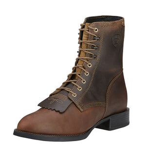 Mens Ariat Heritage Lacer Boot in Distressed Brown from the front
