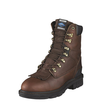 Mens Ariat Hermosa XR 8 Steel Toe Work Boot in Redwood from the front