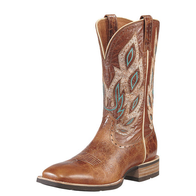 Mens Ariat Nighthawk Western Boot in Beasty Brown from the front