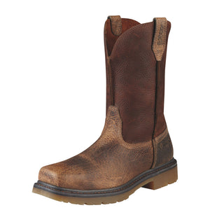 Mens Ariat Rambler Work Steel Toe Work Boot in Earth from the front