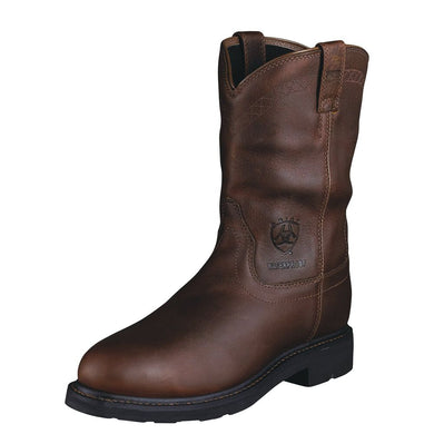 Mens Ariat Sierra Waterproof Steel Toe Work Boot in Sunshine from the front