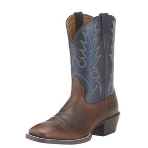 Mens Ariat Sport Outfitter Western Boot in Fiddle Brown from the front
