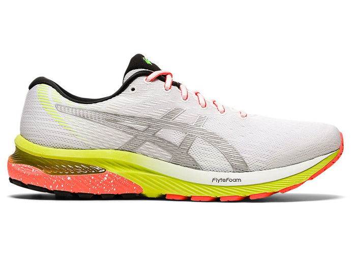 Men's Asics GEL-Cumulus 22 Lite-Show Running Shoe in White/Pure Silver from the side